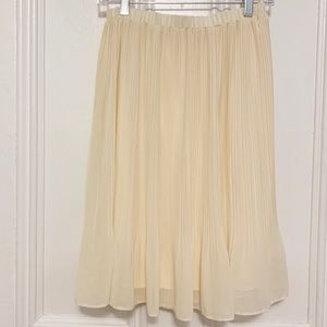 Anthropologie Comme Toi Cream Pleated Skirt
